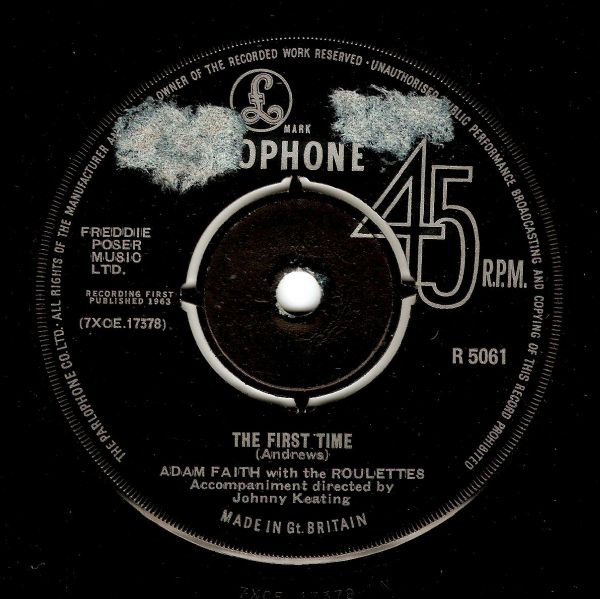 ADAM FAITH The First Time Vinyl Record 7 Inch Parlophone 1963